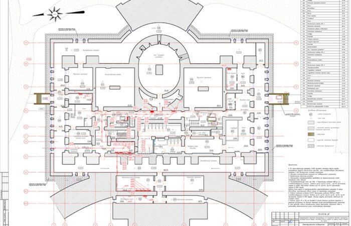 Елагин дворец Чертеж 2