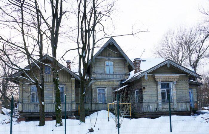 Дача (деревянная 1–2-этажная) Общий вид здания