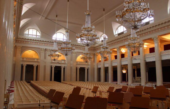 Большой зал филармонии Общий вид помещения