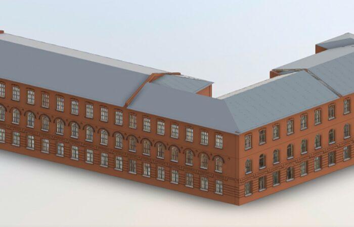 Санкт-Петербургский трубочный завод Трехмерная модель здания 2