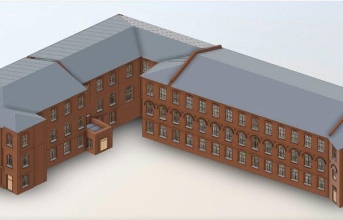 Санкт-Петербургский трубочный завод Трехмерная модель здания