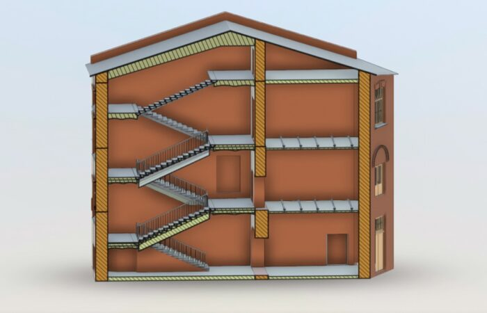 Санкт-Петербургский трубочный завод Трехмерная модель разрез 2