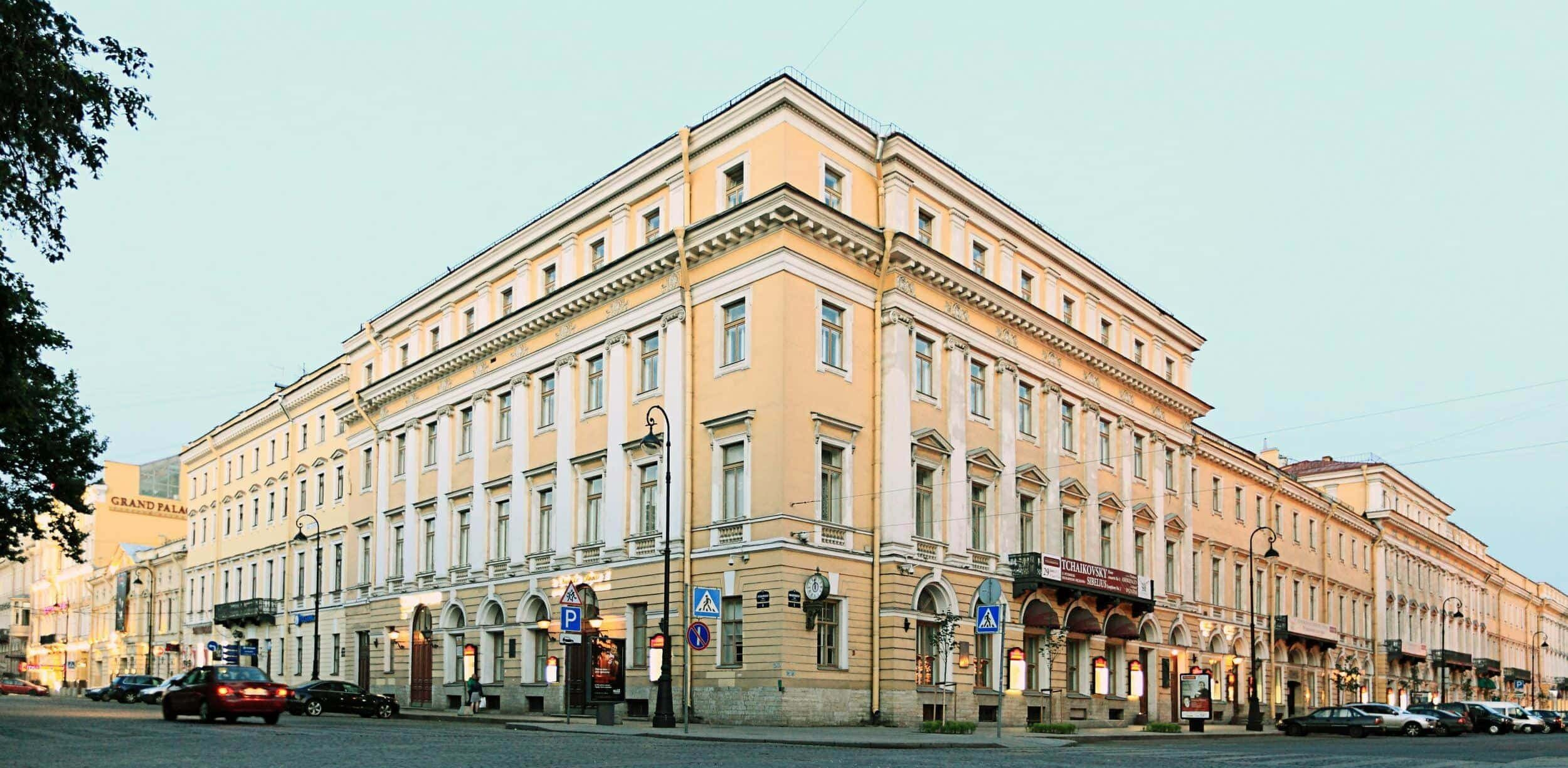 здание «Дворянского собрания» Санкт-Петербургской государственной филармонии им Д.Д. Шостаковича
